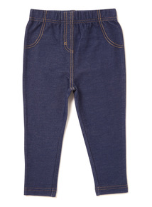 Blue Denim Jeggings (0-24 months)
