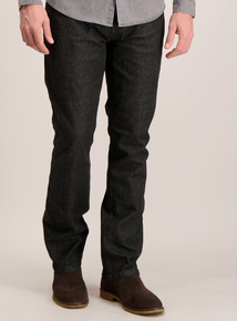 Black Wash Straight Fit Jeans
