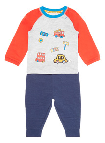 Multicoloured 2 Piece Badged Jersey Set (0-24 months)