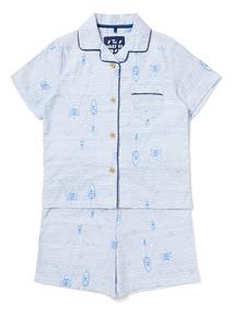 Blue Boat Short Pyjama Set (1-10 years)