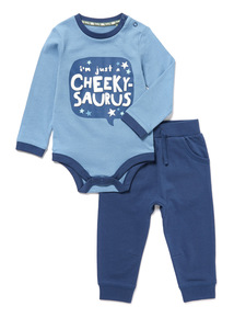 Navy Bodysuit and Joggers Set (0-24 months)