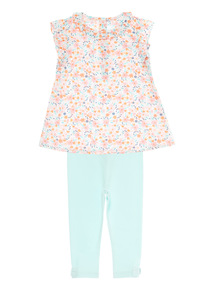 Girls Multicoloured Top And Leggings Set (0 - 24 months)