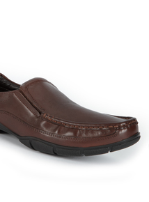 Sole Comfort Brown Leather Loafers