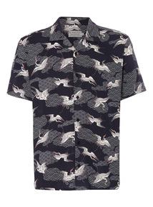 Black Japanese Pattern Shirt