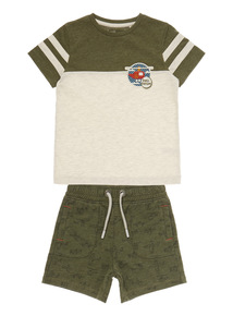 Boys Multicoloured Safari Tee/Shorts Set (9 months- 6 years)