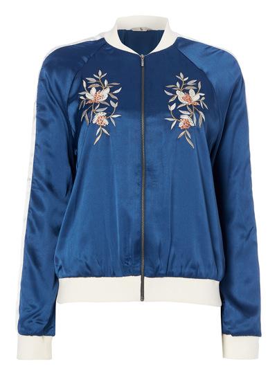 Embroidered Bomber Jacket