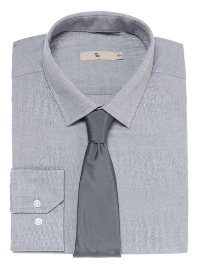 Grey Shirt and Tie Set