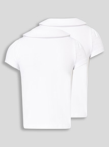 White 2 Pack Fashion Jersey Polo (3-14 years)