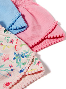 3 Pack Multicoloured Fleur Shorts (3-14 years)