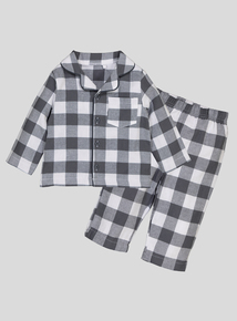 Grey Gingham Woven Pyjamas (newborn-36 months)