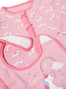 Pink Unicorn Starter Set (Tiny Baby-12 months)