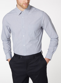 Navy Tailored Fit 2 PAck Shirts
