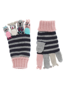Multicoloured Finger Puppet Gloves (2-10 years)