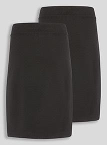 Black 2 Pack Jersey Tulip Skirt (10-16 years)