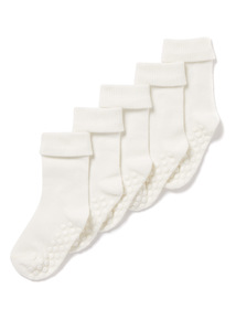 5 Pack White Roll Top Socks (Newborn-24 months)