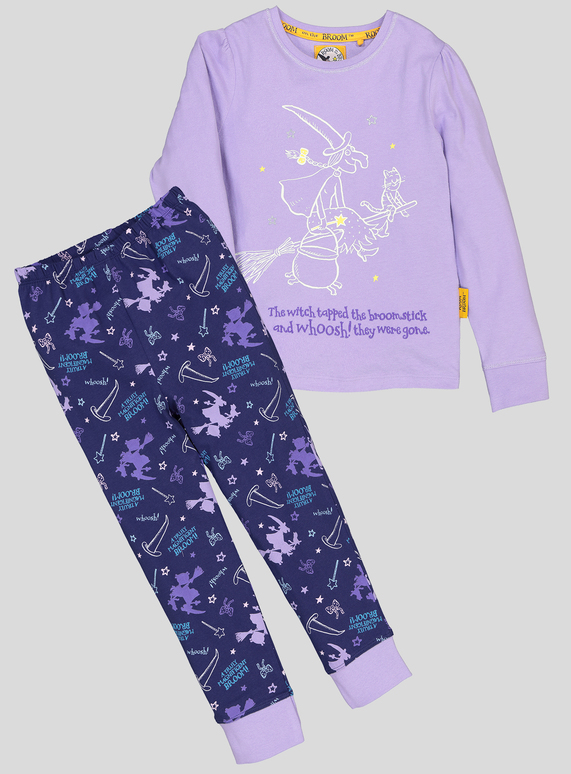 ec969bd9b2 Kids Room on the Broom Purple Witch Pyjamas (1.5 - 7 years)