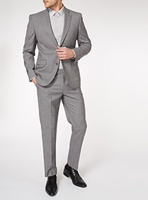 Light Grey Grindle Stretch Suit Tailored Fit Jacket