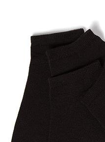 5 Pack Black Trainer Socks