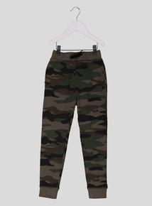 Khaki Green Camouflage Joggers (3-14 years)