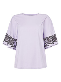 Embellished Sleeve T-shirt