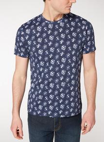 Blue Tie Dye Print T-Shirt