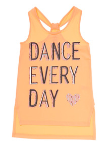 Girls Pink Dance Every Day Vest (5 - 14 years)