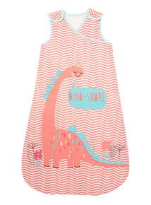 Pink Dino Sleeping Bag (0-24 months)