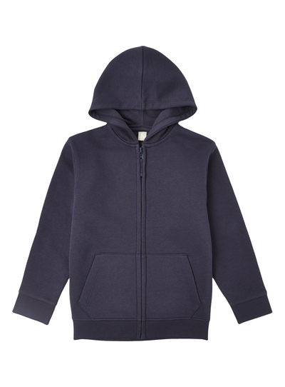 572d83836f0 Kids Unisex Navy Zip Thru Hoodie (3-12 Years)