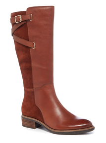 Leather Multi Strap Long Boot