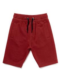 Burgundy Jersey Shorts (3-14 years)