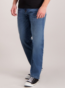 Light Wash Straight Denim Jeans