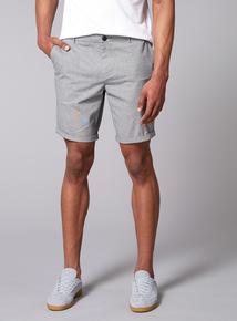 Admiral Grey Textured Shorts