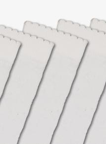 White Knee-High Socks 5 Pack (6 infant-5.5 adult)
