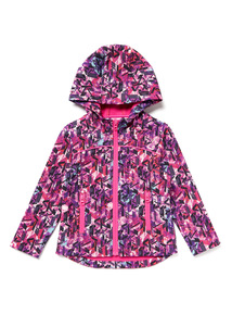 Multicoloured Geo Print Coat (3-14 years)