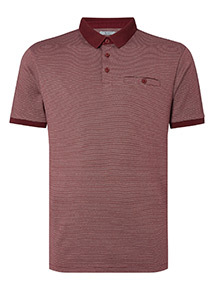 Red Textured Polo Shirt