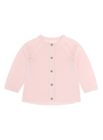 Girls Pink Cardigan (0-12 months)