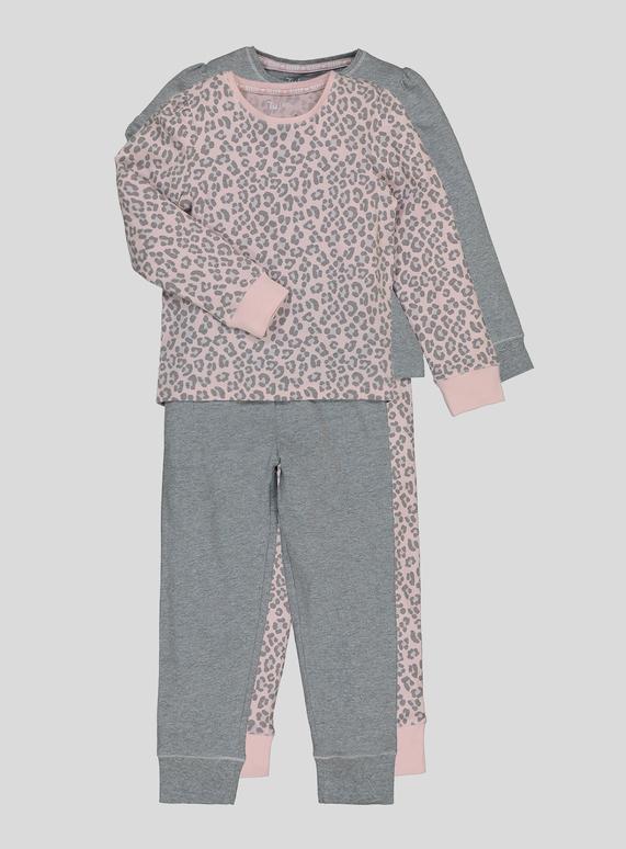 0002e70287b2 Kids Pink Animal Print Pyjamas 2 Pack (18 Months - 12 Years)