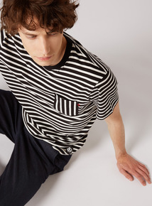 GFW Monochrome Striped Oversized T-Shirt