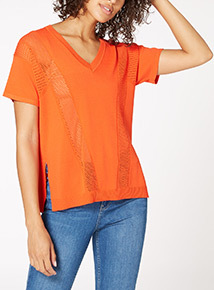 Red Compact Mesh Tee