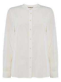 Button Collarless Shirt