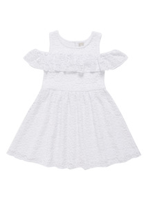 Cream Lace Cold Shoulder Dress (3-12 years)