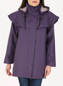 DAVID BARRY Purple Waterproof Storm Jacket
