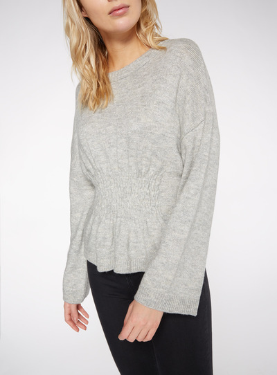 Online Exclusive Silver Sheared Lurex Jumper