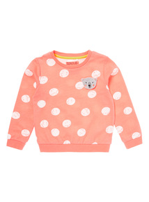 Pink Spotted Bear Jumper (9 months-6 years)