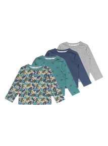 Multicoloured Cotton T-Shirts 4 Pack (0-24 months)