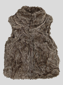 Brown Faux Fur Gilet (3-14 years)
