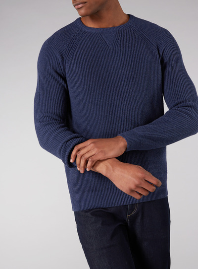 Admiral Navy Fisherman Knit Jumper