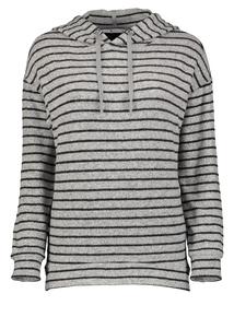 Grey Stripe Soft Touch Hoodie