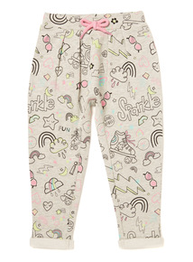 Grey Good Vibes Print Joggers (9 months-6 years)