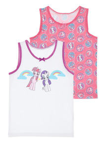 Girls Multicoloured My Little Pony Vests 2 Pack